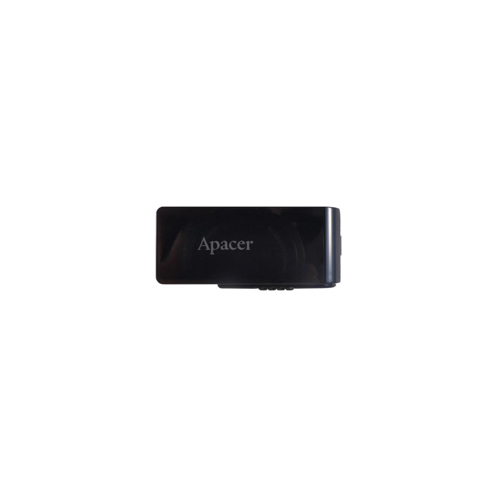 USB флеш накопитель 128GB AH350 Black RP USB3.0 Apacer (AP128GAH350B-1)