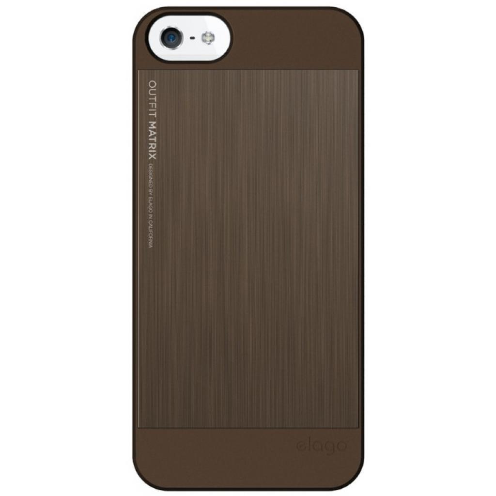 Чехол для моб. телефона ELAGO для iPhone 5 /Outfit MATRIX Aluminum/chocolate (ELS5OFMX-SFCHO) изображение 3