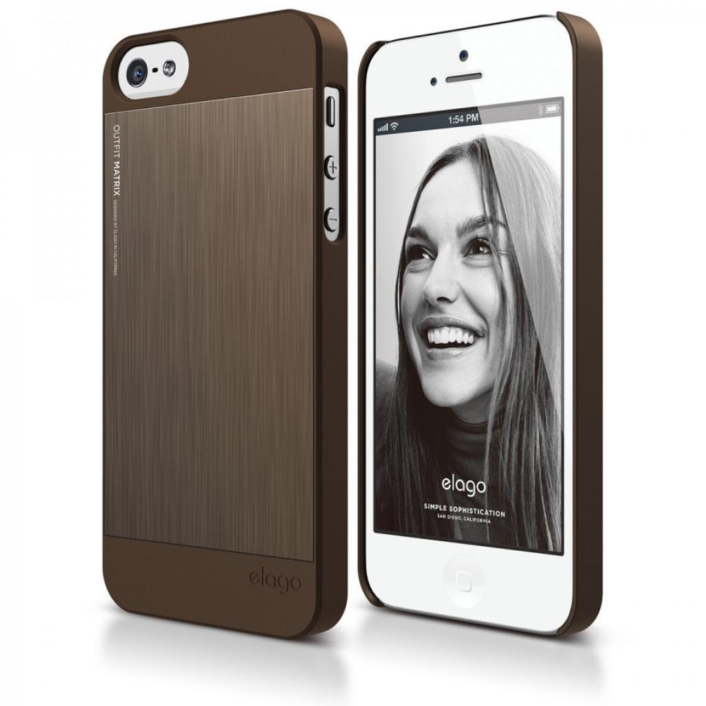 Чехол для моб. телефона ELAGO для iPhone 5 /Outfit MATRIX Aluminum/chocolate (ELS5OFMX-SFCHO)