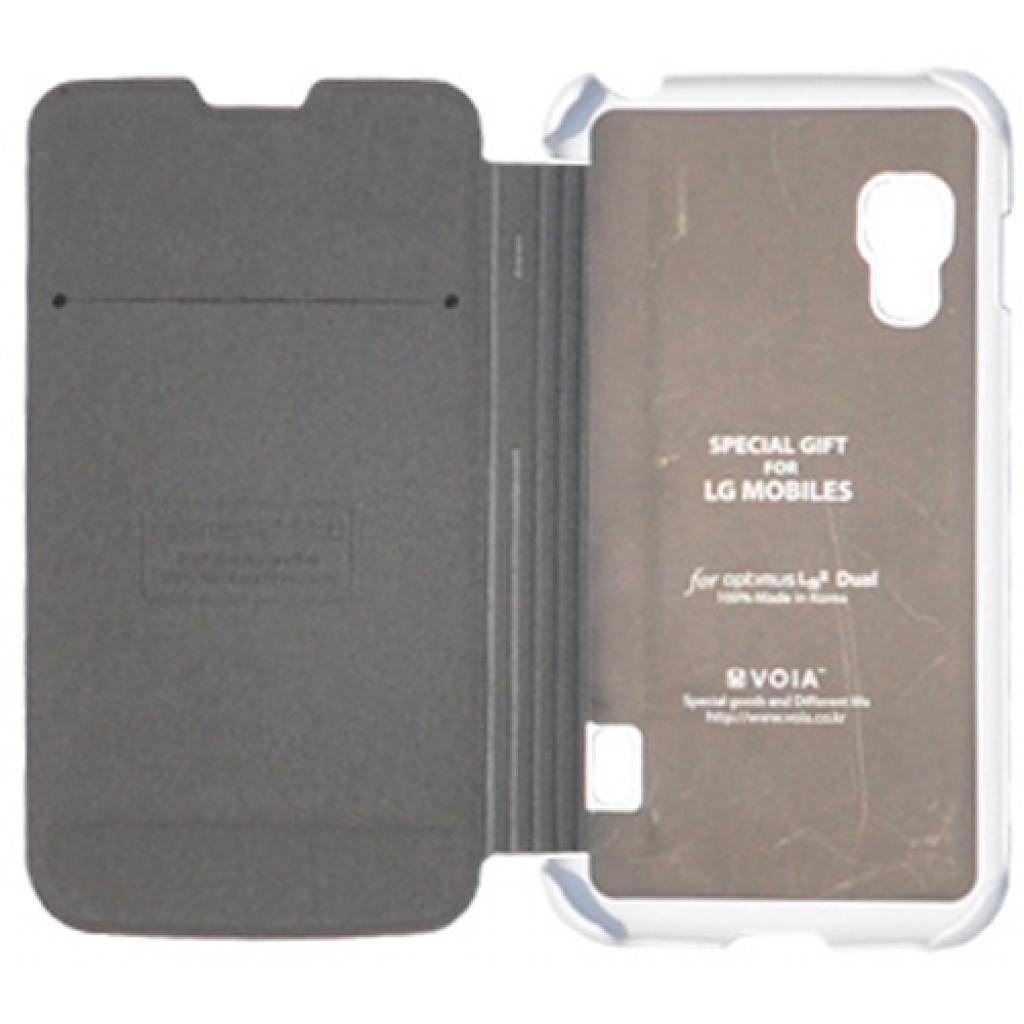 Чехол для моб. телефона VOIA для LG E455 Optimus L5II Dual /Flip/White (6068235)