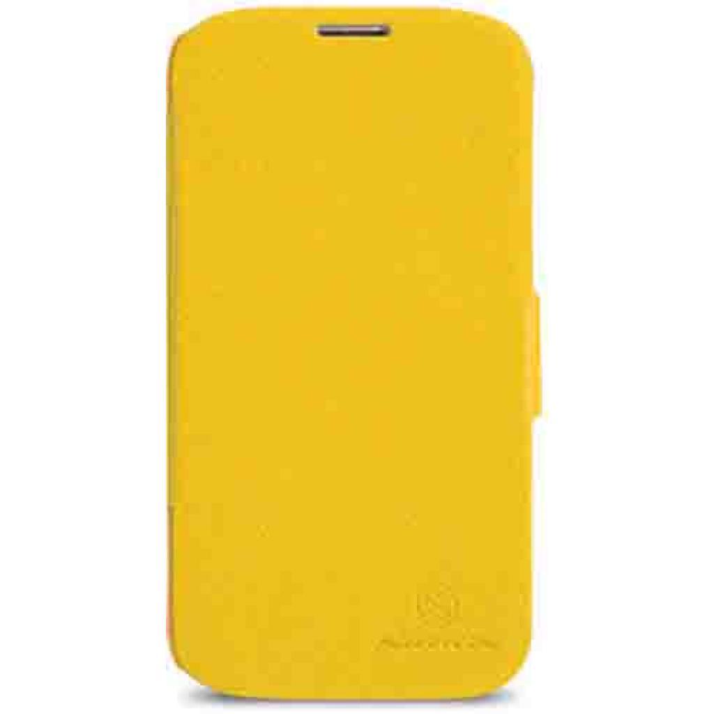 Чехол для моб. телефона NILLKIN для Samsung G900/S-5/Fresh/ Leather/Yellow (6135312)
