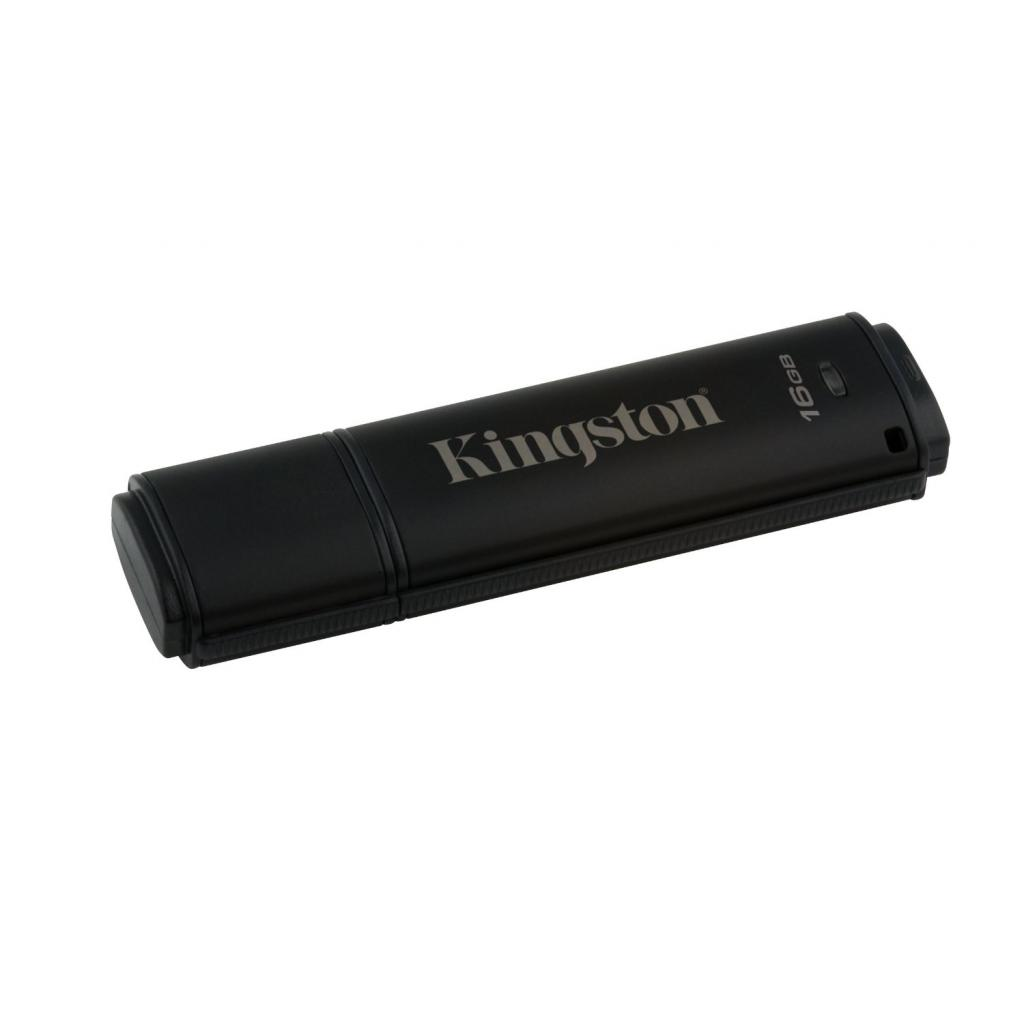 USB флеш накопитель Kingston 16GB DataTraveler 4000 G2 Metal Black USB 3.0 (DT4000G2/16GB) изображение 2