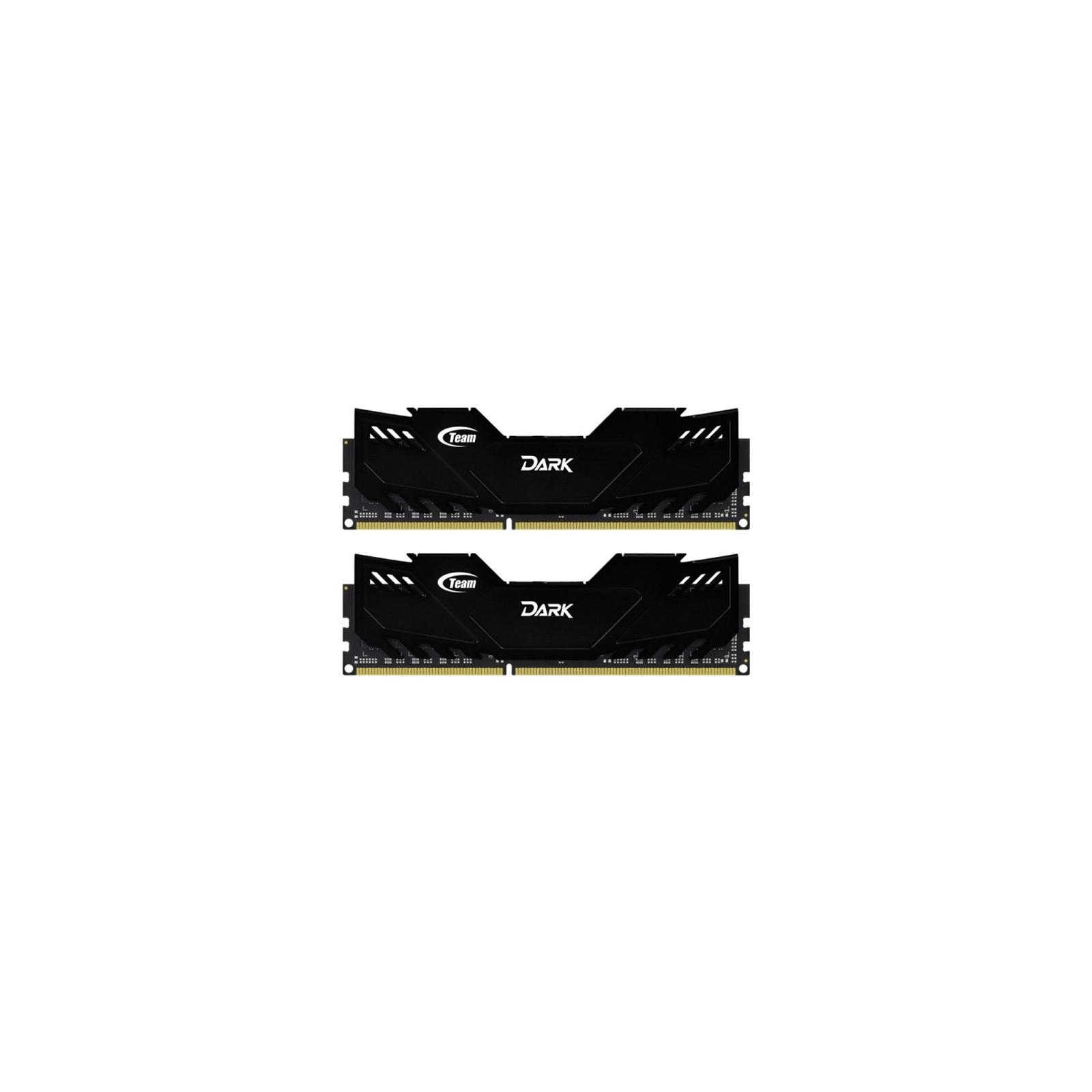 Модуль памяти для компьютера DDR4 16GB (2x8GB) 2666 MHz Dark Black Team (TDKED416G2666HC15ADC01)