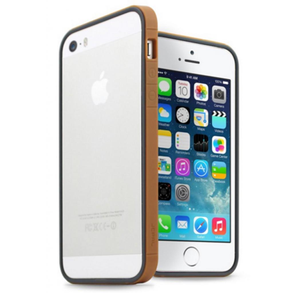 Чехол для моб. телефона JCPAL Anti-shock Bumper 3 in 1 для iPhone 5S/5 Set-Gold (JCP3310)