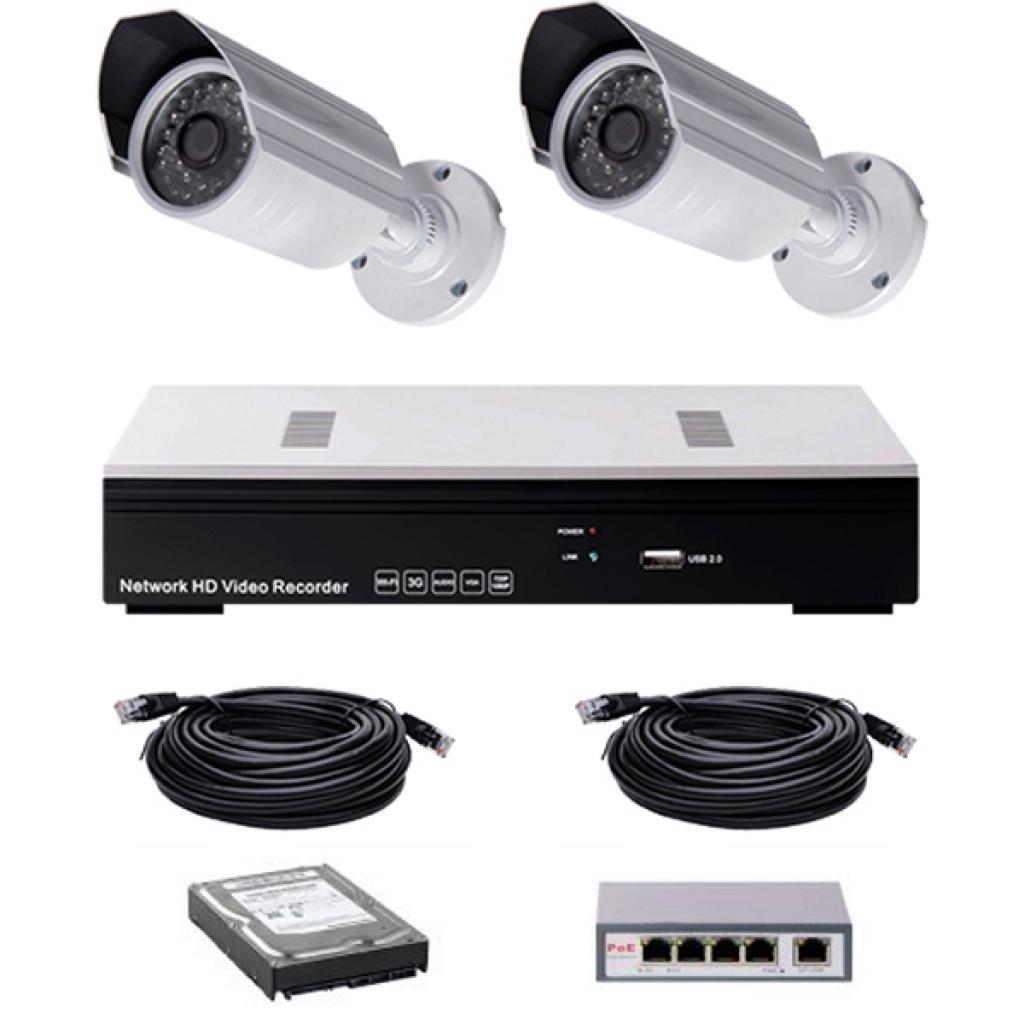 Комплект видеонаблюдения CoVi NVK-2002 POE KIT