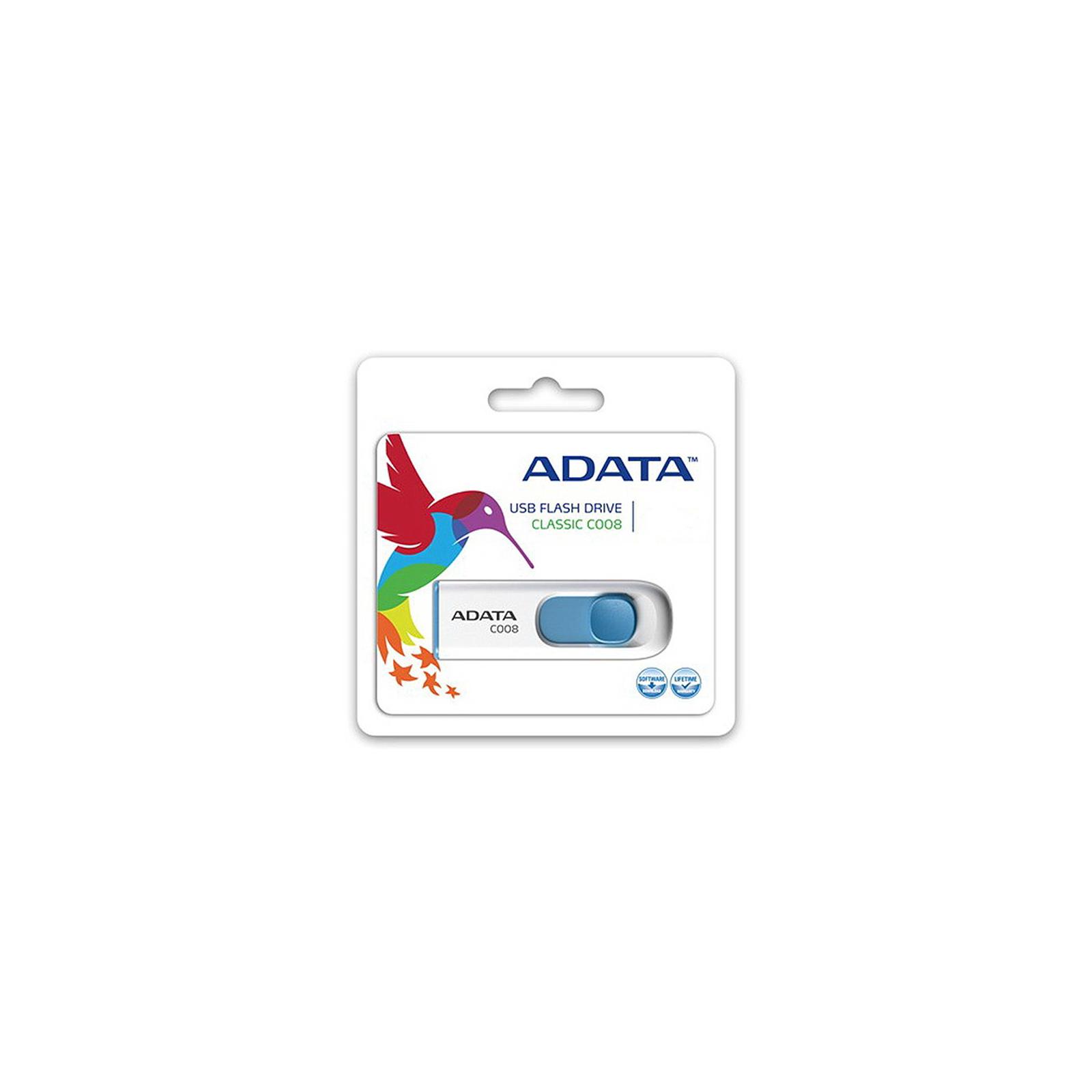 USB флеш накопитель ADATA 16Gb C008 Black/Red USB 2.0 (AC008-16G-RKD) изображение 5