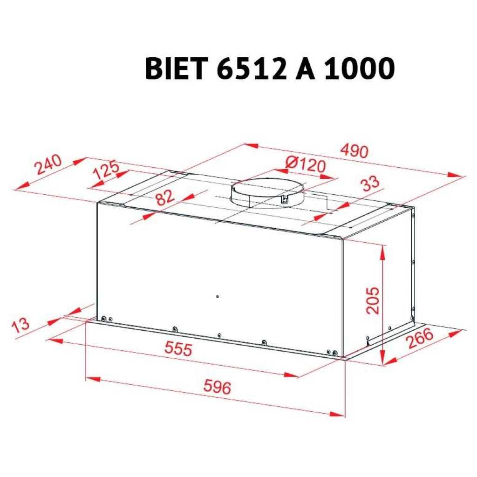 Вытяжка кухонная PERFELLI BIET 6512 A 1000 BL LED изображение 6