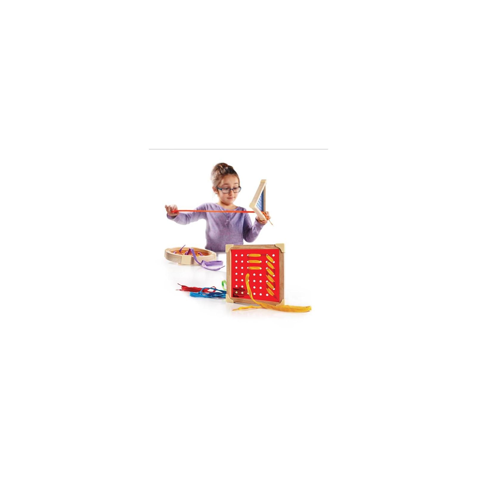 Развивающая игрушка Guidecraft Шнуровка Manipulatives Геометрия (G6801) изображение 3