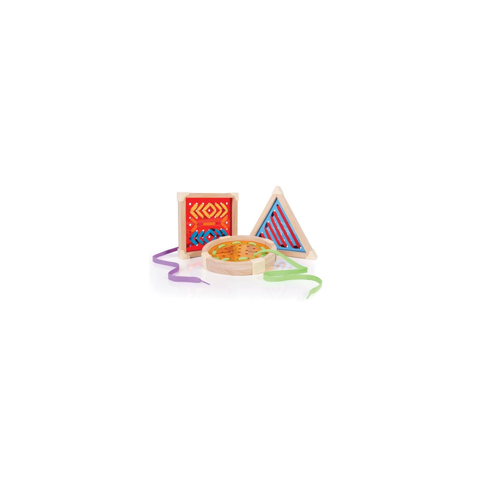 Развивающая игрушка Guidecraft Шнуровка Manipulatives Геометрия (G6801) изображение 4