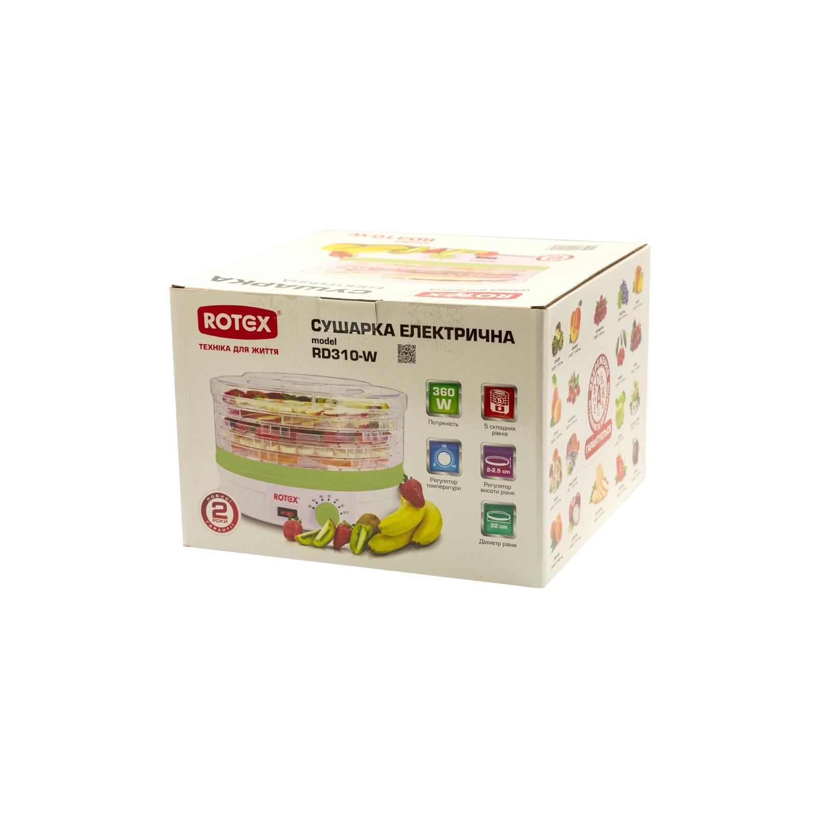Сушка для овощей и фруктов Rotex RD310-W изображение 3