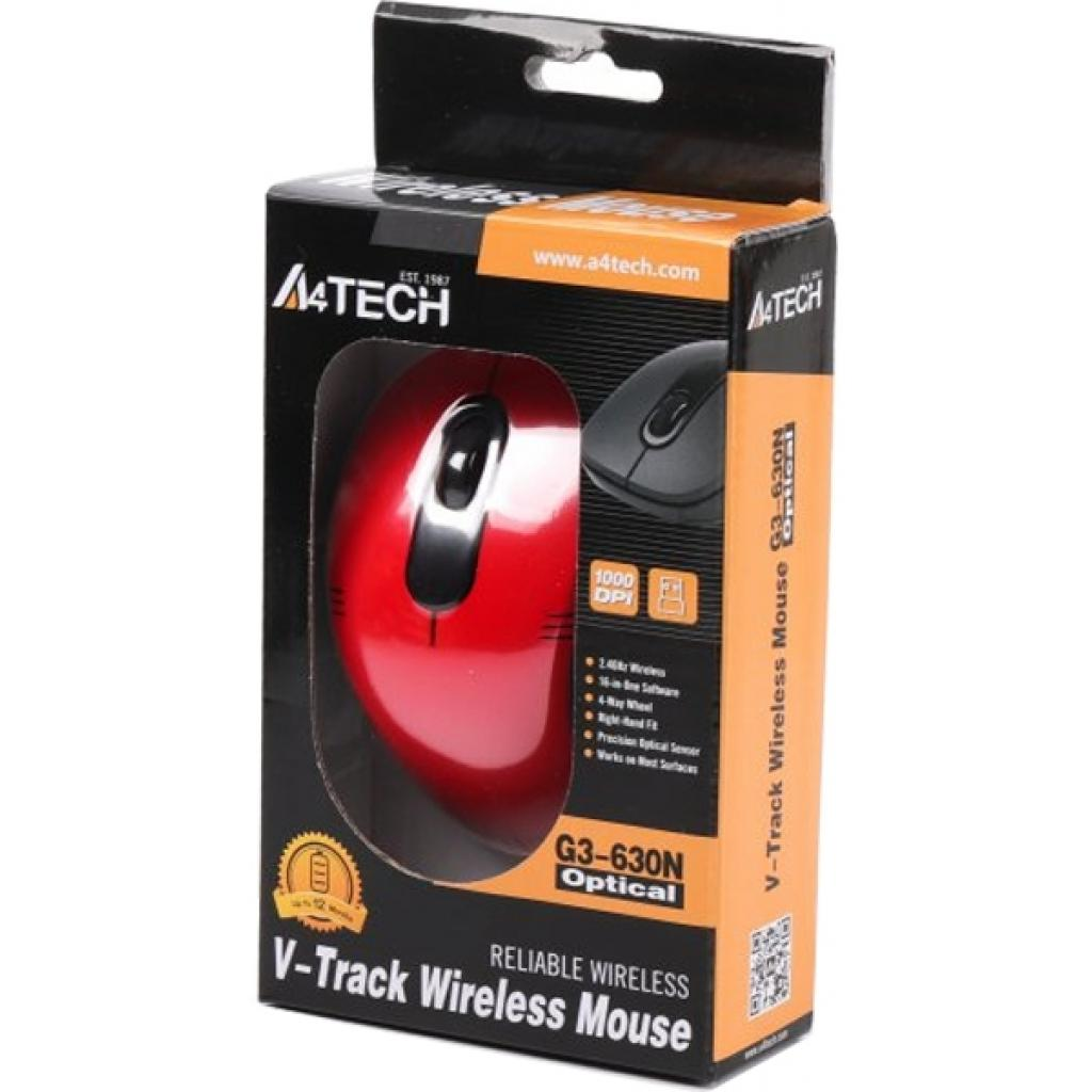 Мышка A4Tech G3-630N Black изображение 5