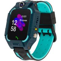 Смарт-часы Discovery iQ5000 Camera LED Light Blue Детские смарт часы-телефон трек (iQ5000 Blue)
