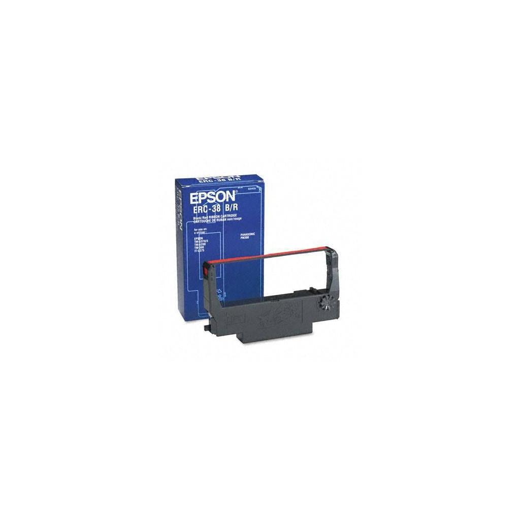 Картридж EPSON ERC-38 Black/Red Ribbon Cassette (C43S015376)