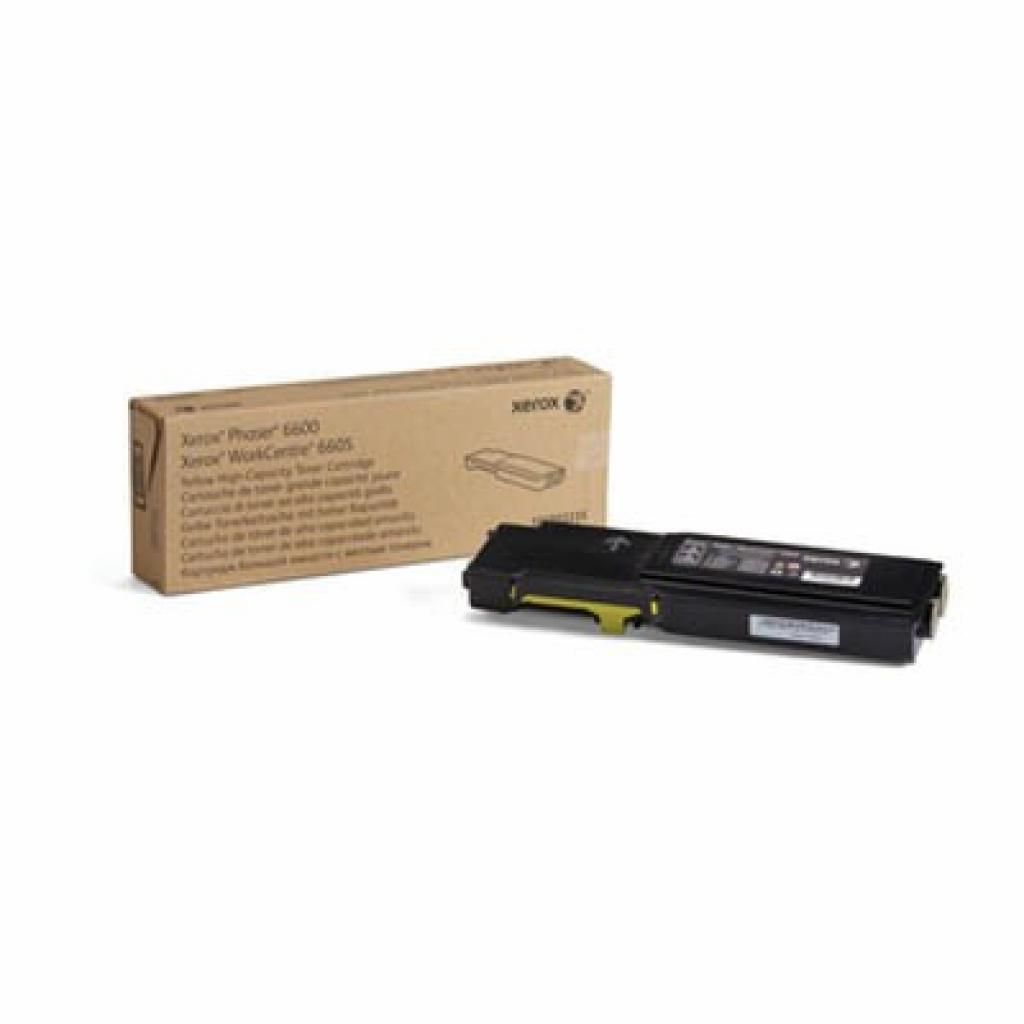 Тонер-картридж XEROX PH6600/ WC6605 Yellow (Max) (106R02235)