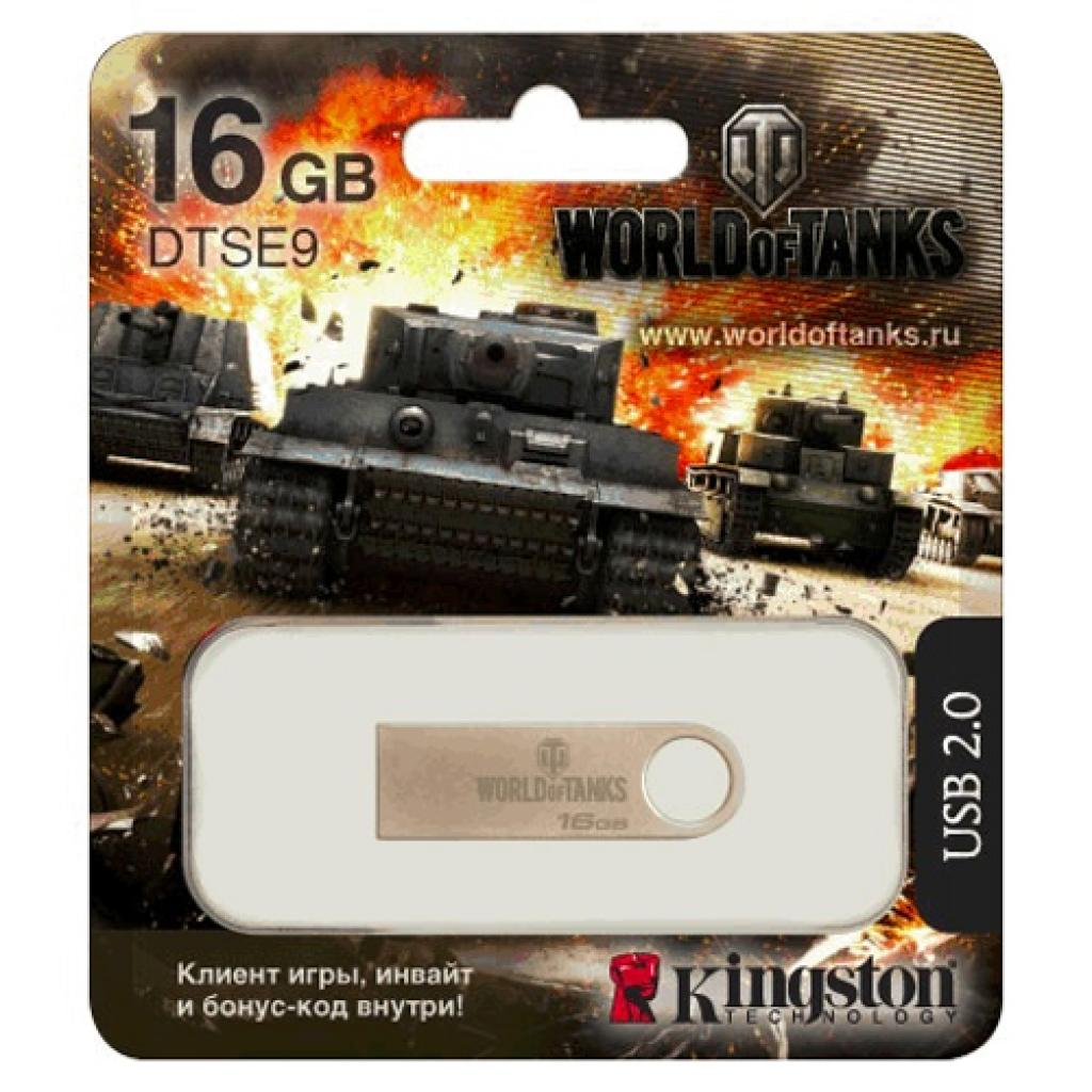 USB флеш накопитель Kingston 16Gb DataTraveler SE9 World of Tanks edition (KC-U4616-4F)