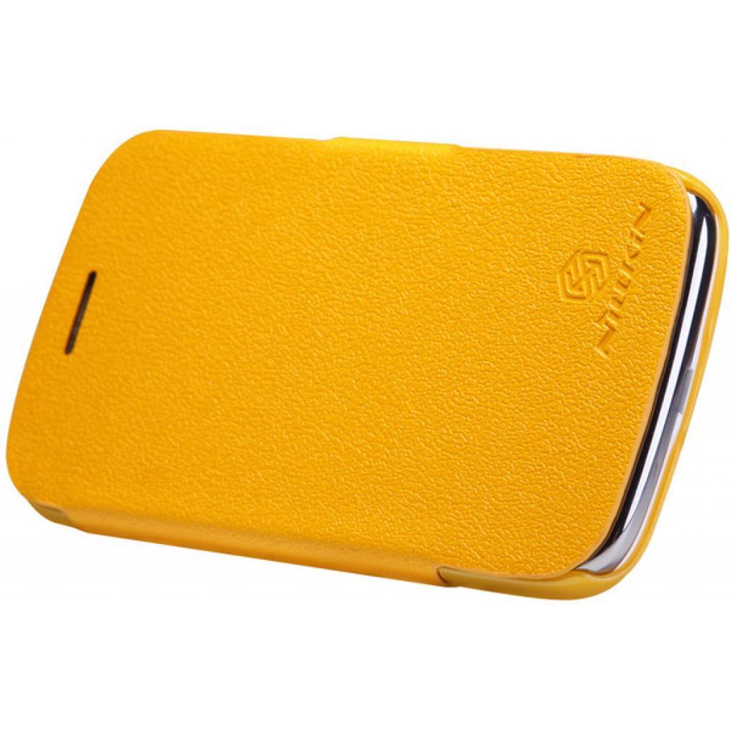 Чехол для моб. телефона NILLKIN для Samsung I8262 /Fresh/ Leather/Yellow (6076966) изображение 3