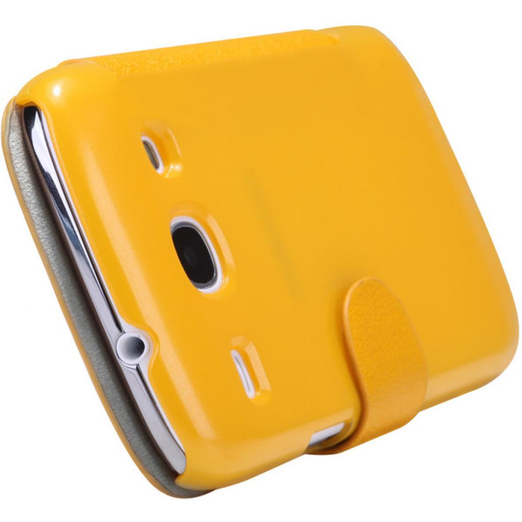 Чехол для моб. телефона NILLKIN для Samsung I8262 /Fresh/ Leather/Yellow (6076966) изображение 4