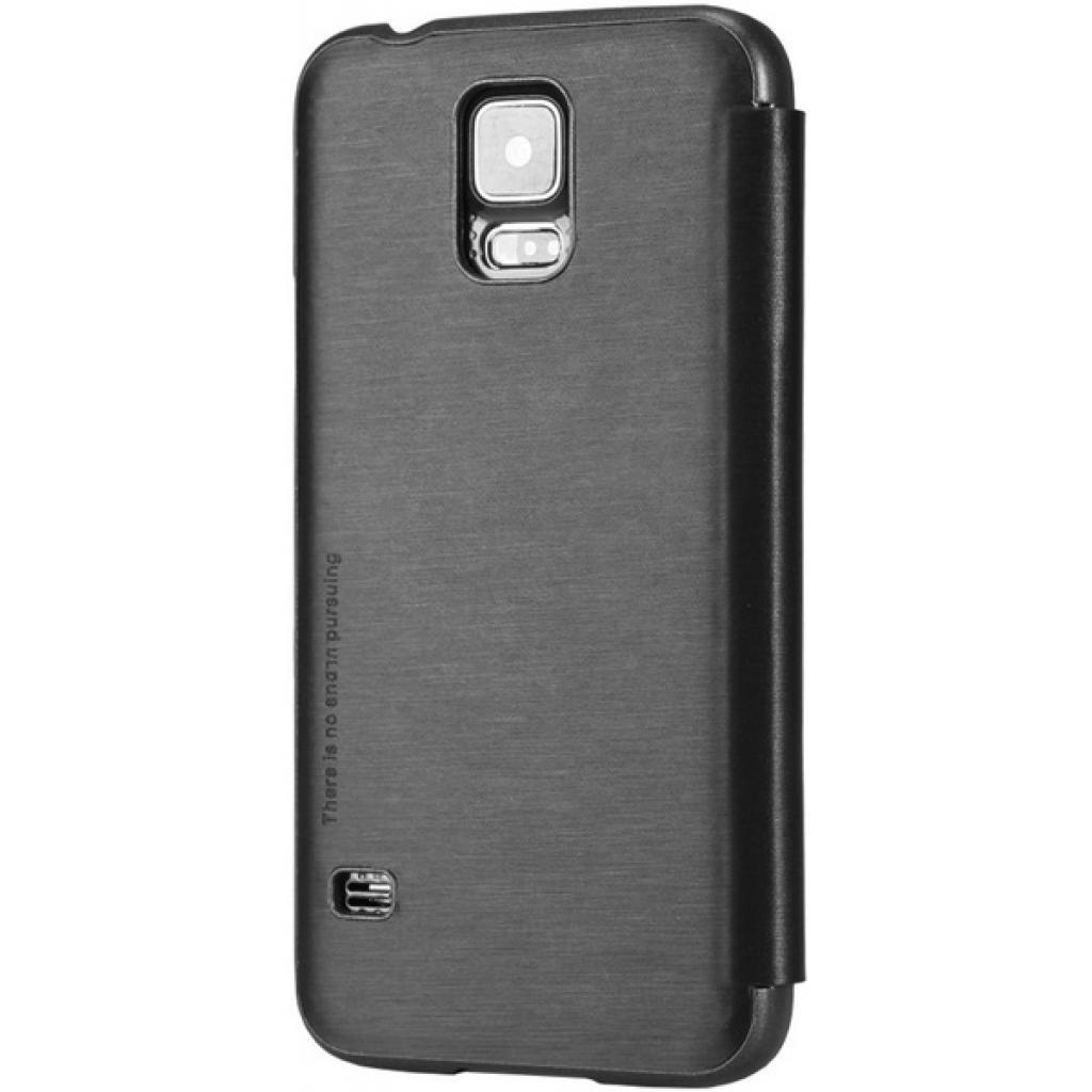 Чехол для моб. телефона NILLKIN для Samsung G900/S-5/Rain/ Leather/Black (6135320) изображение 2