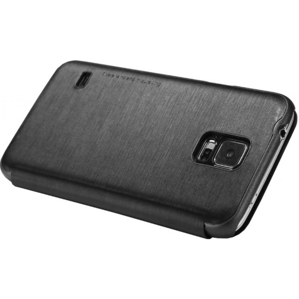 Чехол для моб. телефона NILLKIN для Samsung G900/S-5/Rain/ Leather/Black (6135320) изображение 3