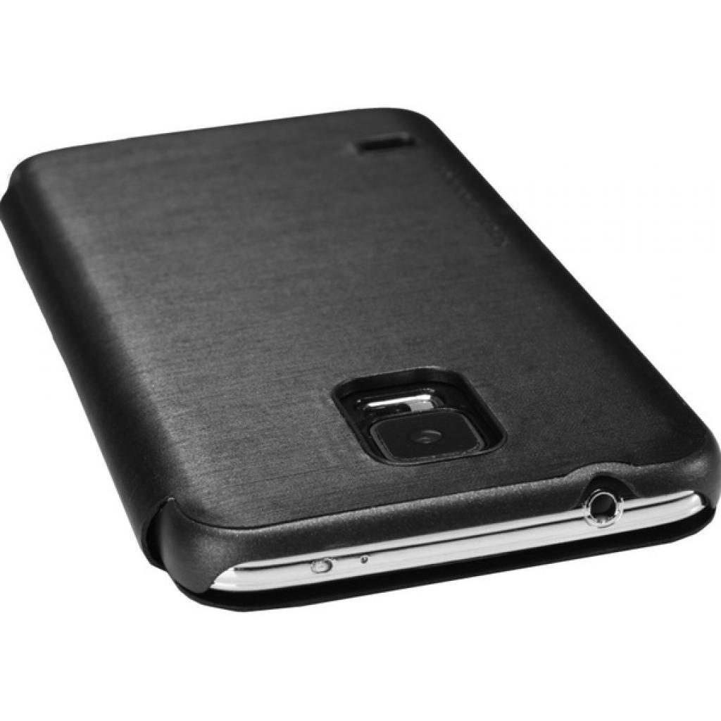 Чехол для моб. телефона NILLKIN для Samsung G900/S-5/Rain/ Leather/Black (6135320) изображение 4