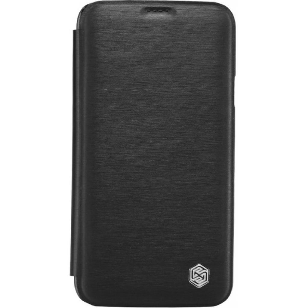 Чехол для моб. телефона NILLKIN для Samsung G900/S-5/Rain/ Leather/Black (6135320)