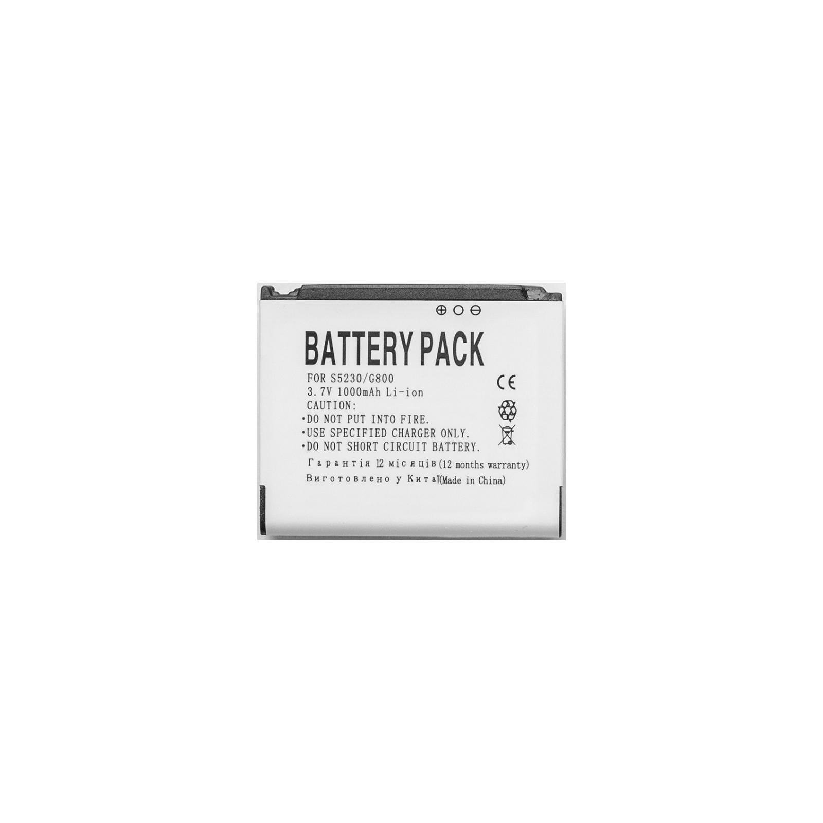 Аккумуляторная батарея PowerPlant Samsung G808, G800, S5230, L870, S7520U |AB603443CU| (DV00DV6101) изображение 2