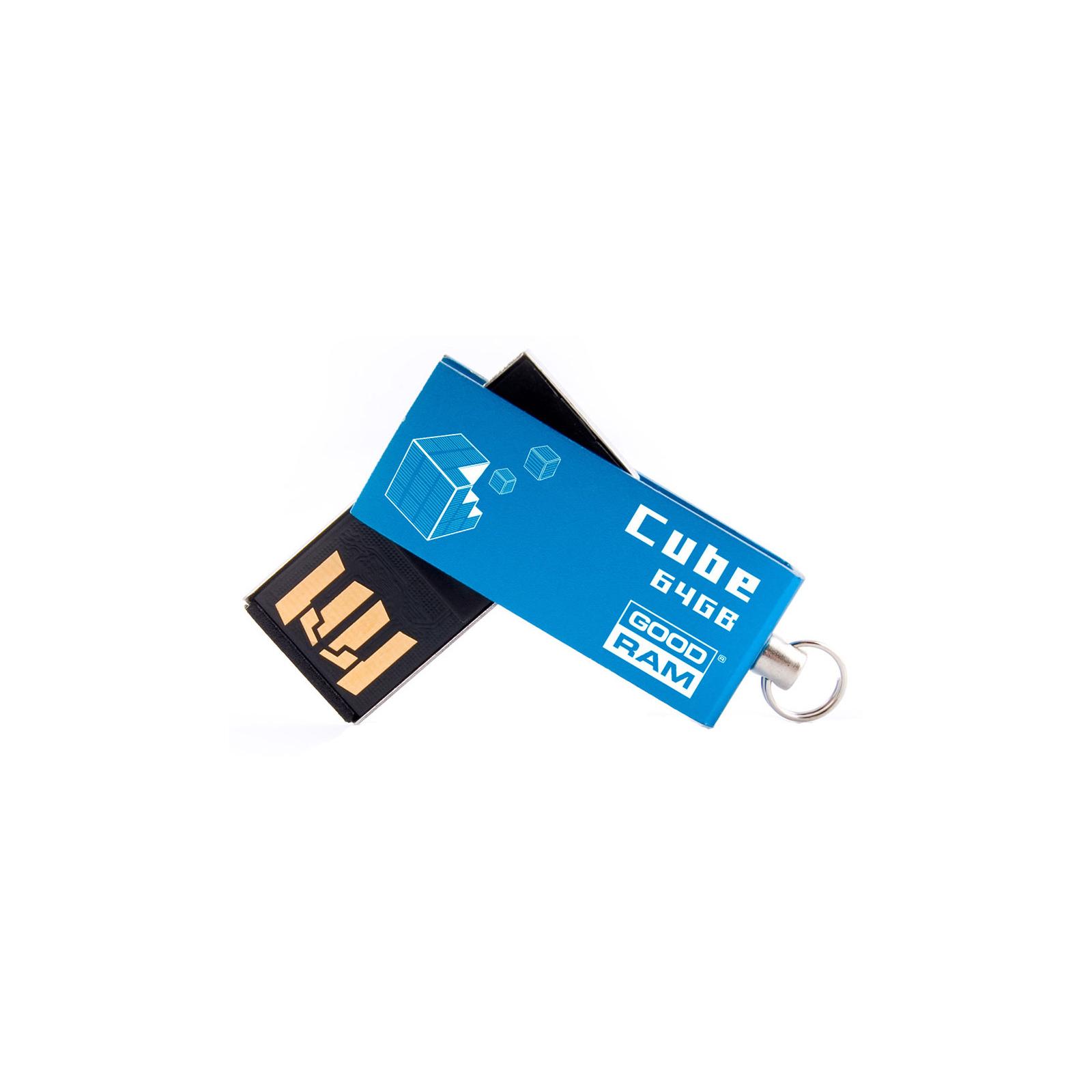 USB флеш накопитель Goodram 64GB UCU2 Cube Black USB 2.0 (UCU2-0640K0R11)