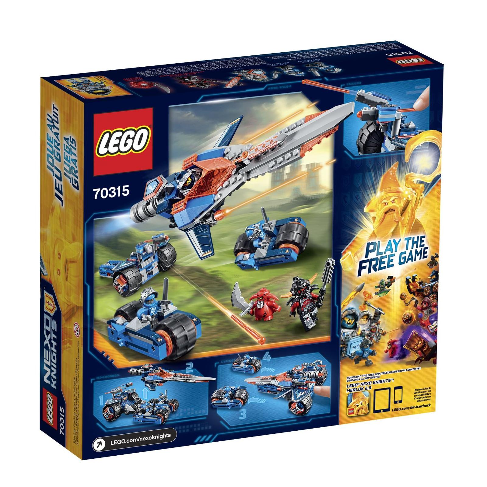 Конструктор LEGO Nexo Knights Устрашающий разрушитель Клэя (70315) изображение 12