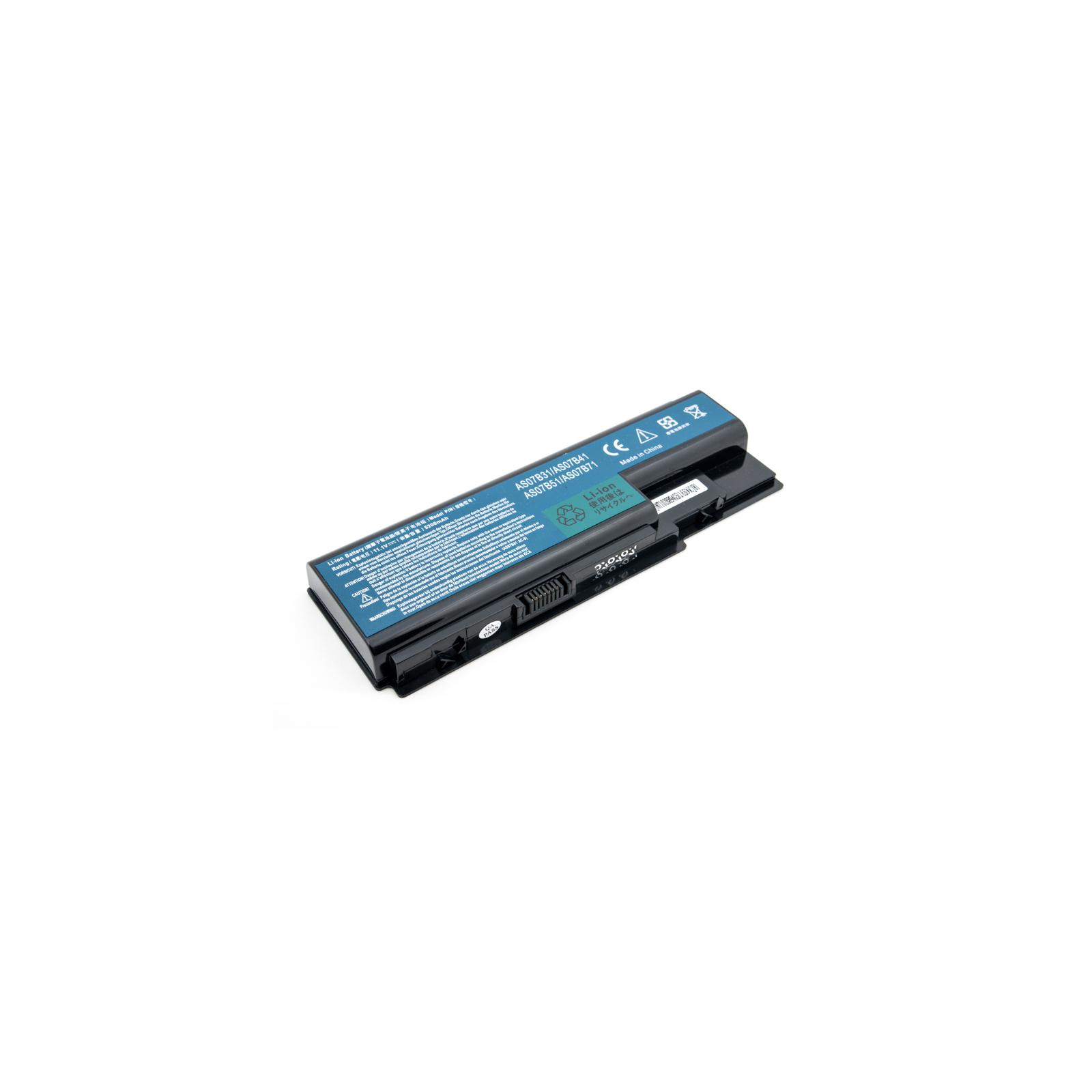 Аккумулятор для ноутбука ACER Aspire 5230 (AS07B41, AR5923LH) 11.1V 5200mAh PowerPlant (NB00000196)