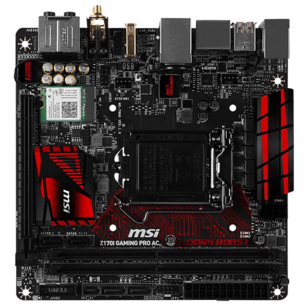 Материнская плата MSI Z170I GAMING PRO AC изображение 2