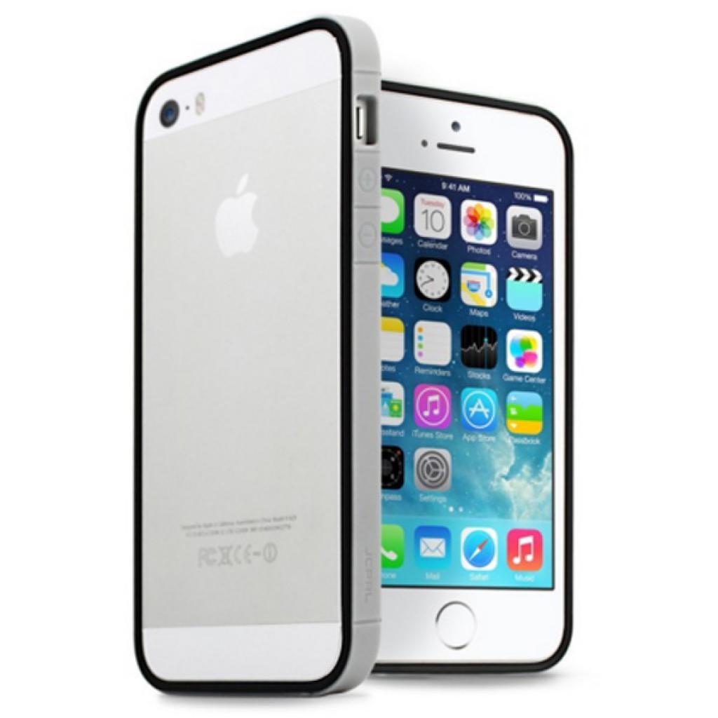Чехол для моб. телефона JCPAL Anti-shock Bumper 3 in 1 для iPhone 5S/5 Set-Gray (JCP3312)