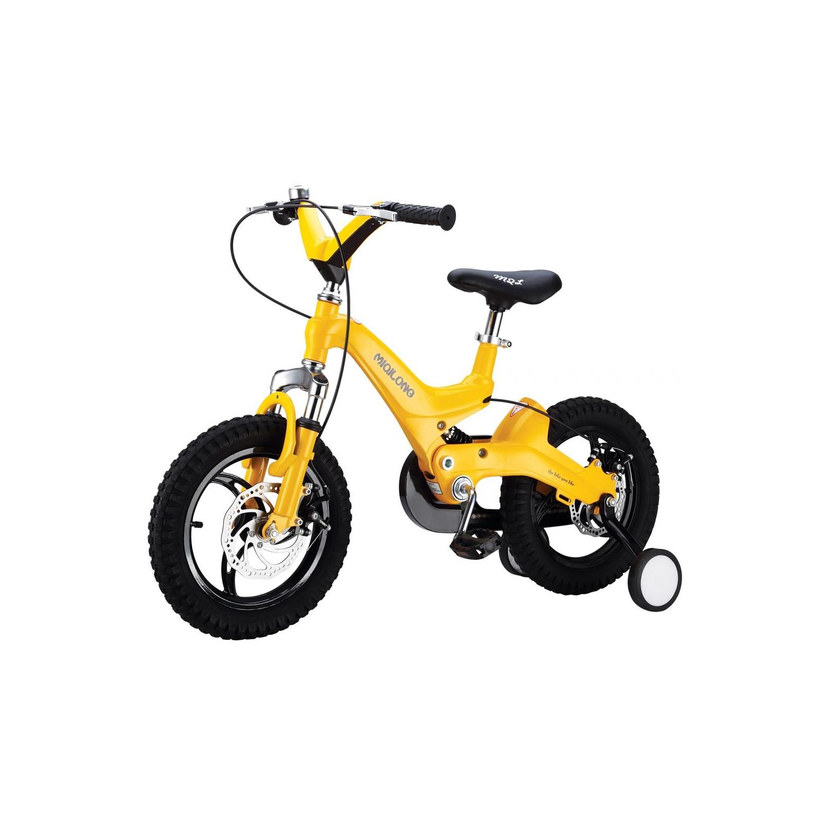 Детский велосипед Miqilong JZB Желтый 16` (MQL-JZB16-Yellow)