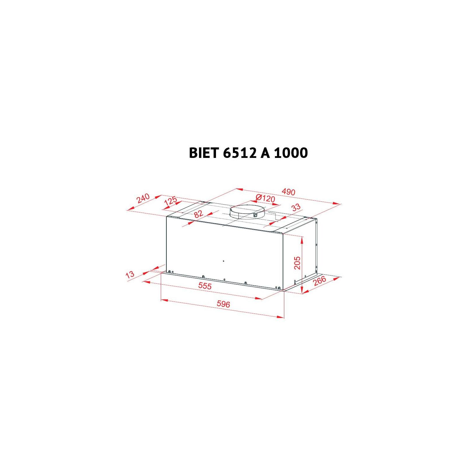 Вытяжка кухонная PERFELLI BIET 6512 A 1000 DARK IV LED изображение 7
