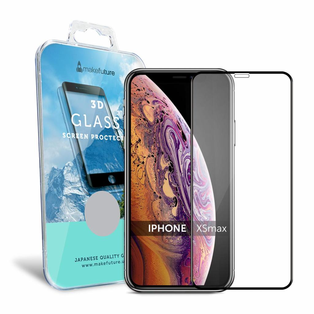Стекло защитное MakeFuture для Apple iPhone XS Max 3D Black (MG3D-AIXSMB) изображение 2