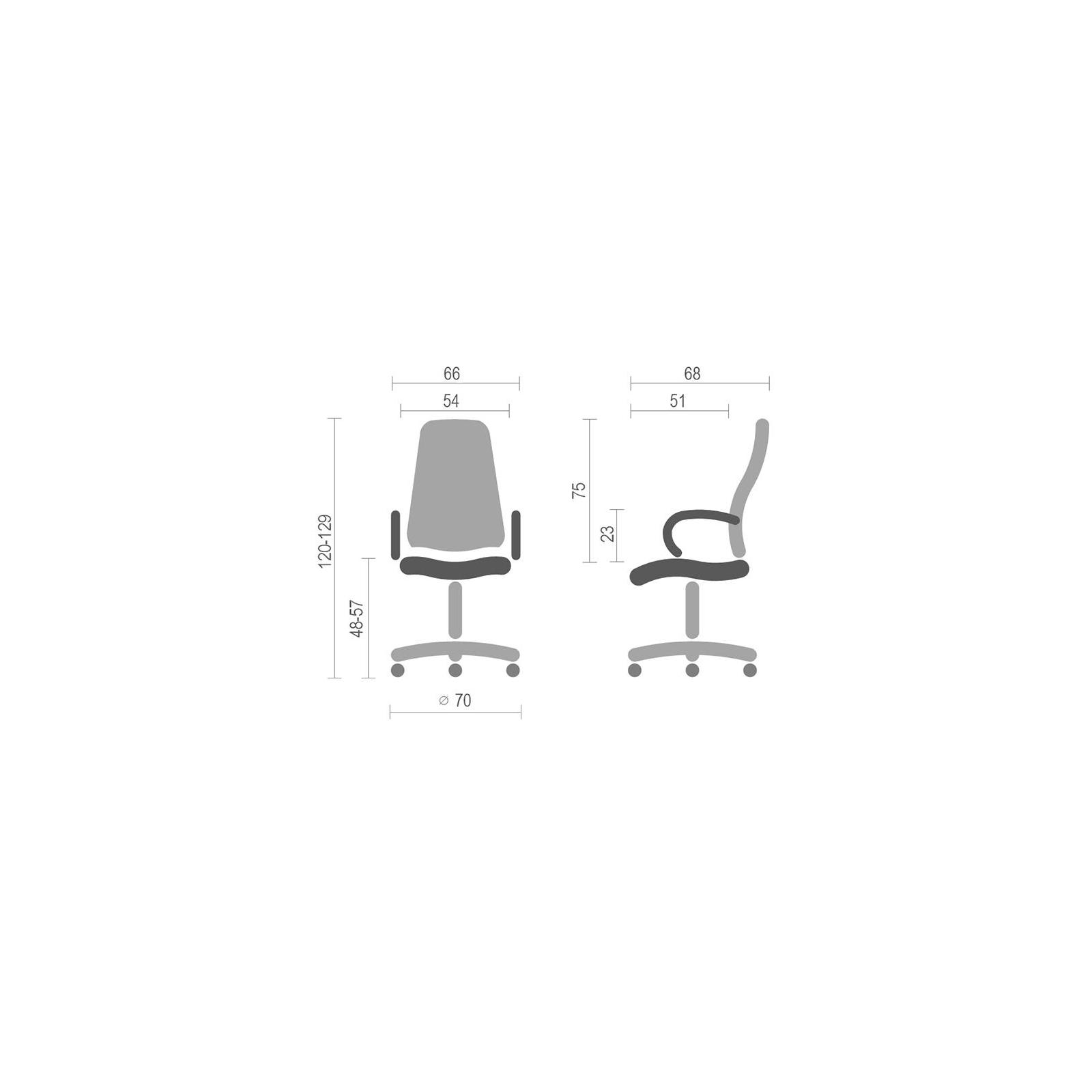 Кресло игровое АКЛАС Григ PL TILT Оранжевое (06157) изображение 6