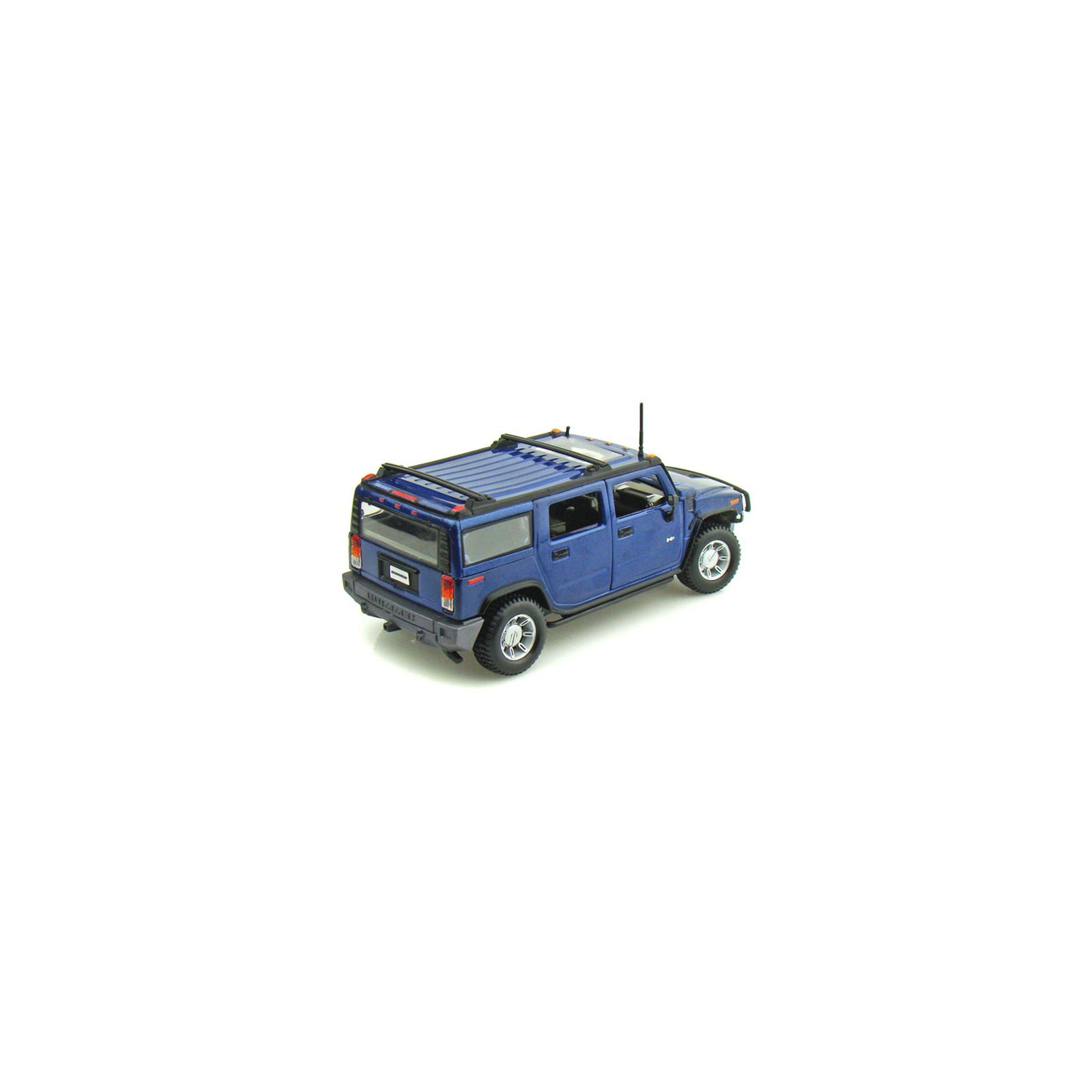 Машина Maisto Hummer H2 SUV 2003 (1:27) синий (31231 blue) изображение 2