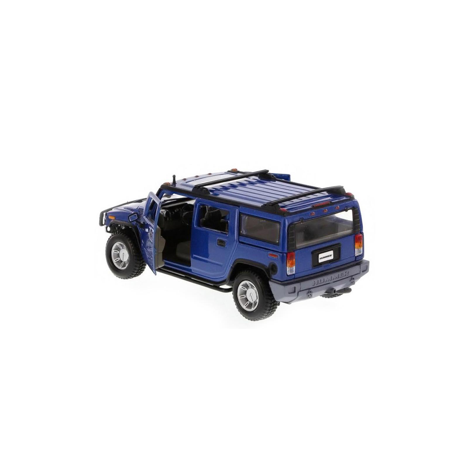 Машина Maisto Hummer H2 SUV 2003 (1:27) синий (31231 blue) изображение 3