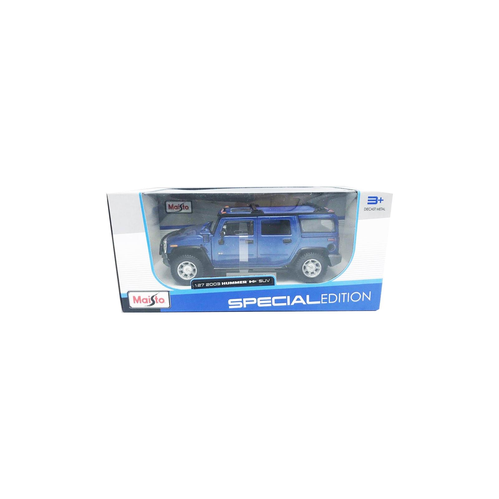 Машина Maisto Hummer H2 SUV 2003 (1:27) синий (31231 blue) изображение 5