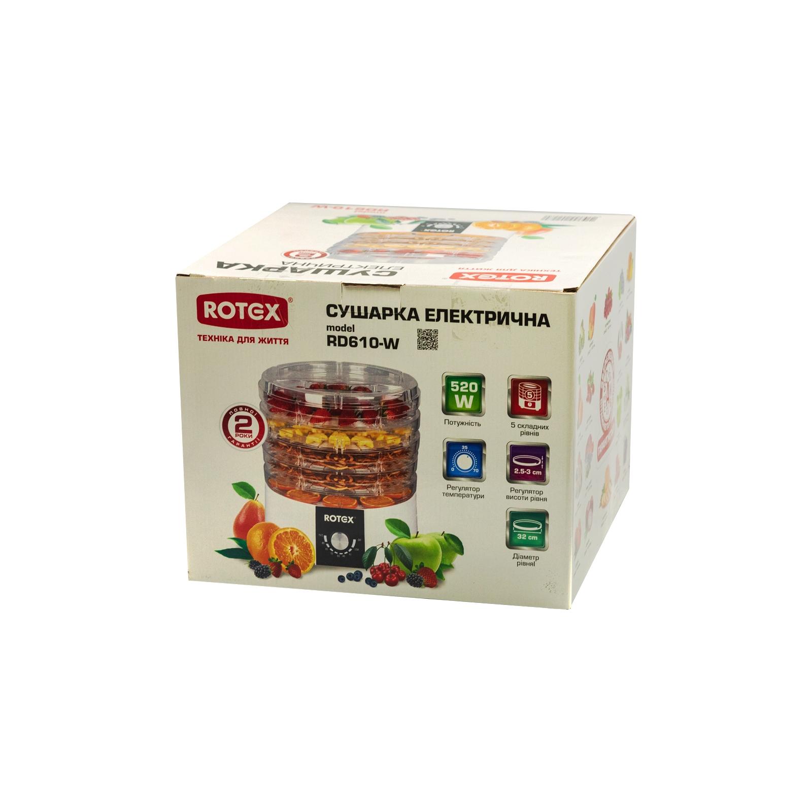 Сушка для овощей и фруктов Rotex RD610-W изображение 4