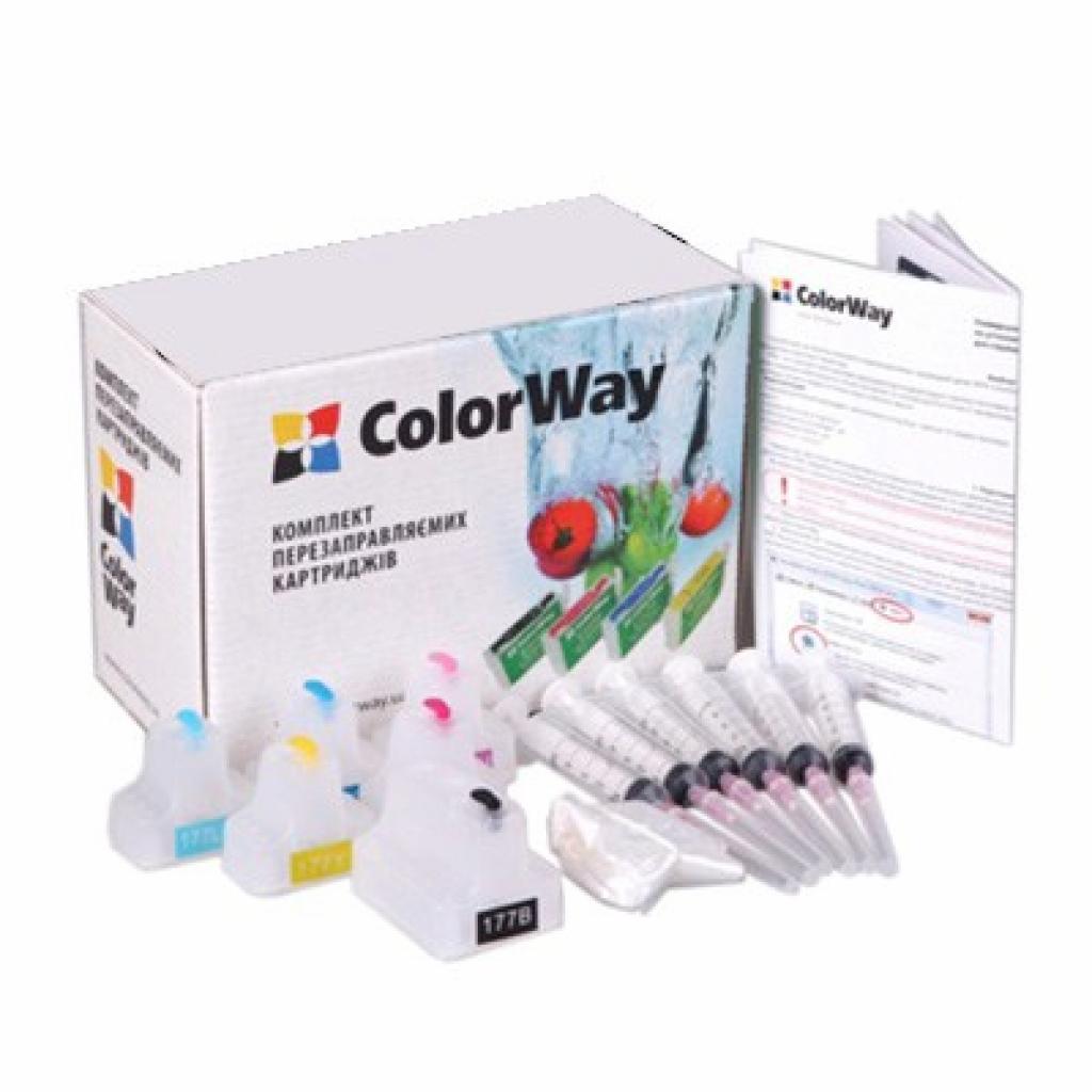 Комплект перезаправляемых картриджей ColorWay HP №177 (без чрнил) (H177RC-0.0)