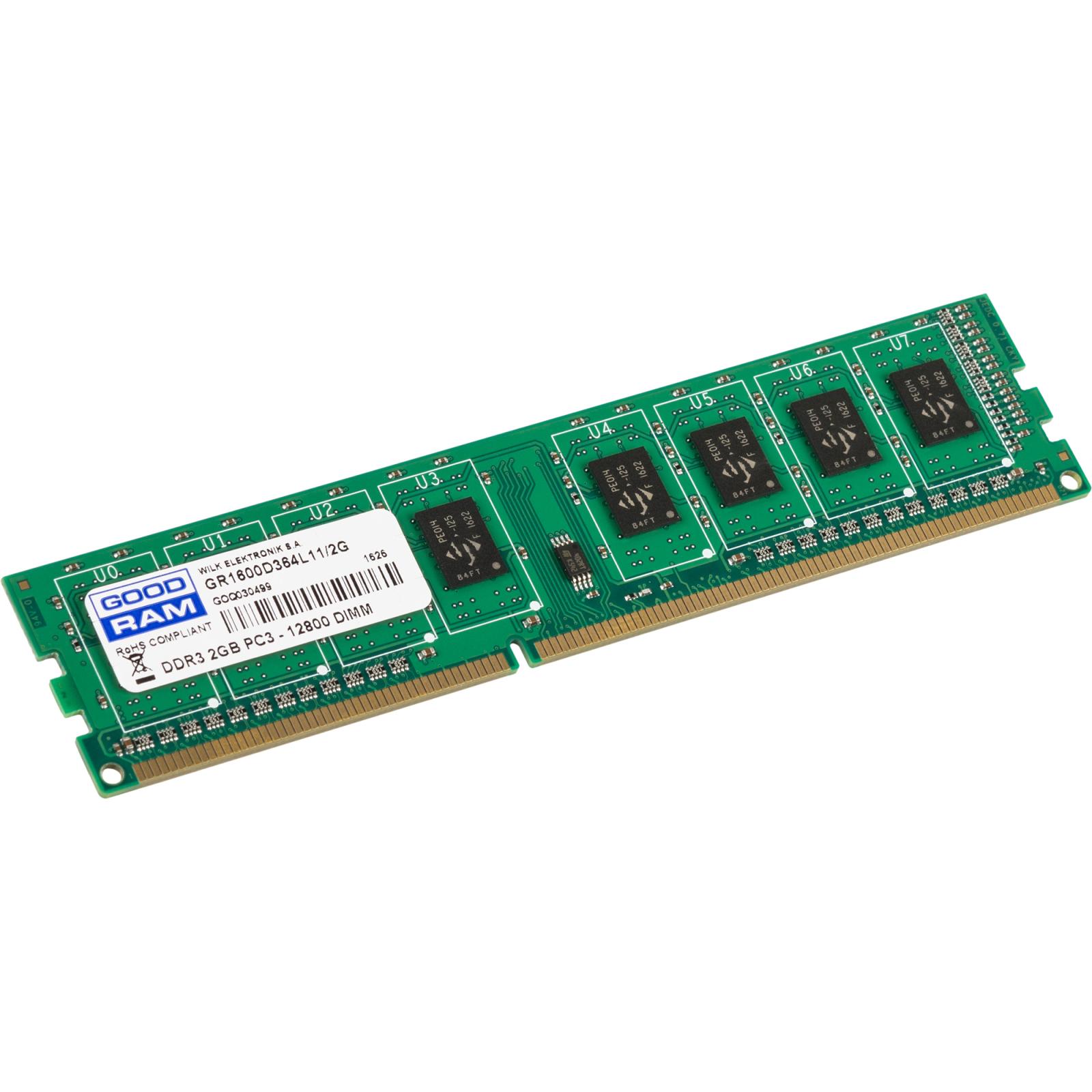 Модуль памяти для компьютера DDR3 2GB 1600 MHz GOODRAM (GR1600D364L11/2G) изображение 2