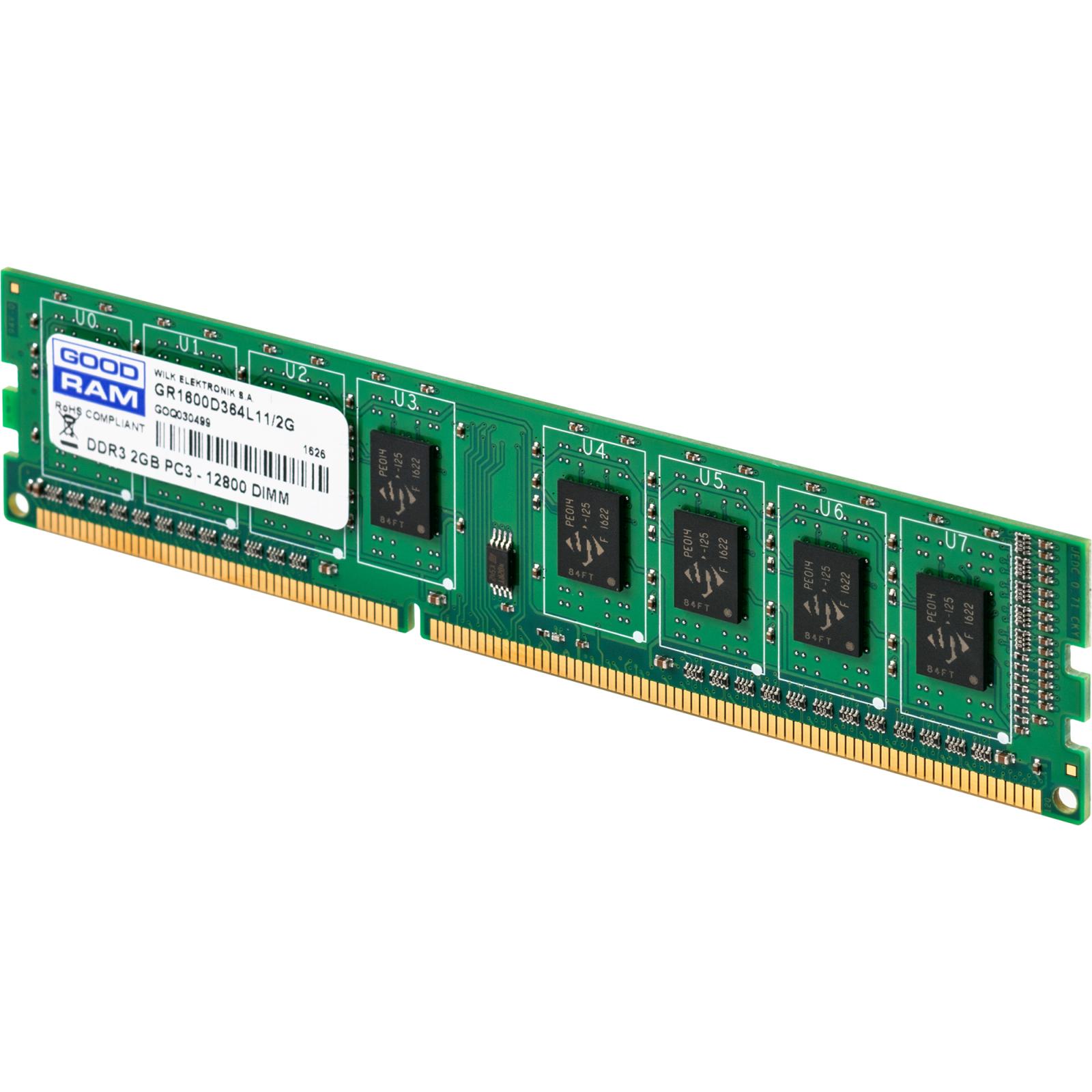 Модуль памяти для компьютера DDR3 2GB 1600 MHz GOODRAM (GR1600D364L11/2G) изображение 3