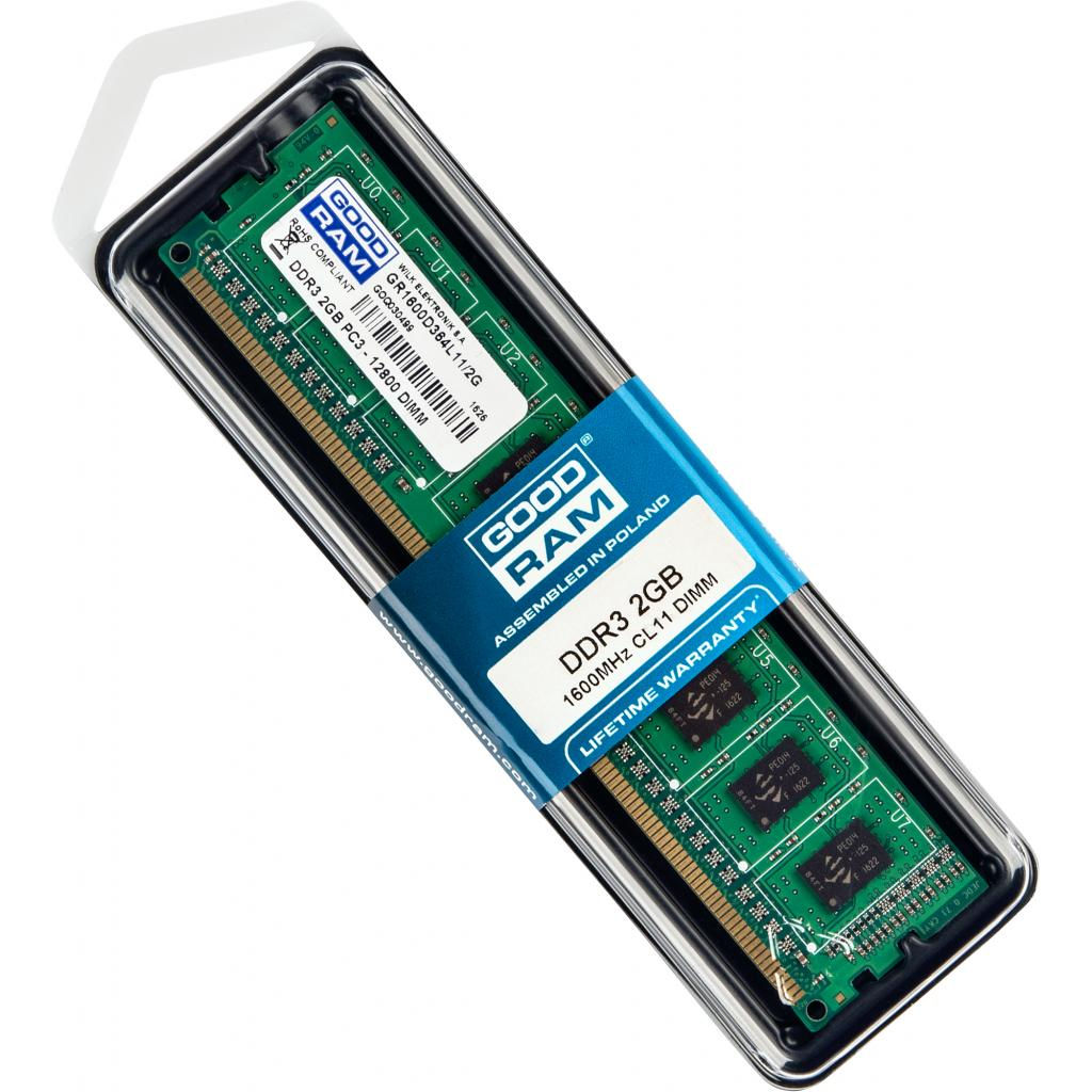 Модуль памяти для компьютера DDR3 2GB 1600 MHz GOODRAM (GR1600D364L11/2G) изображение 5