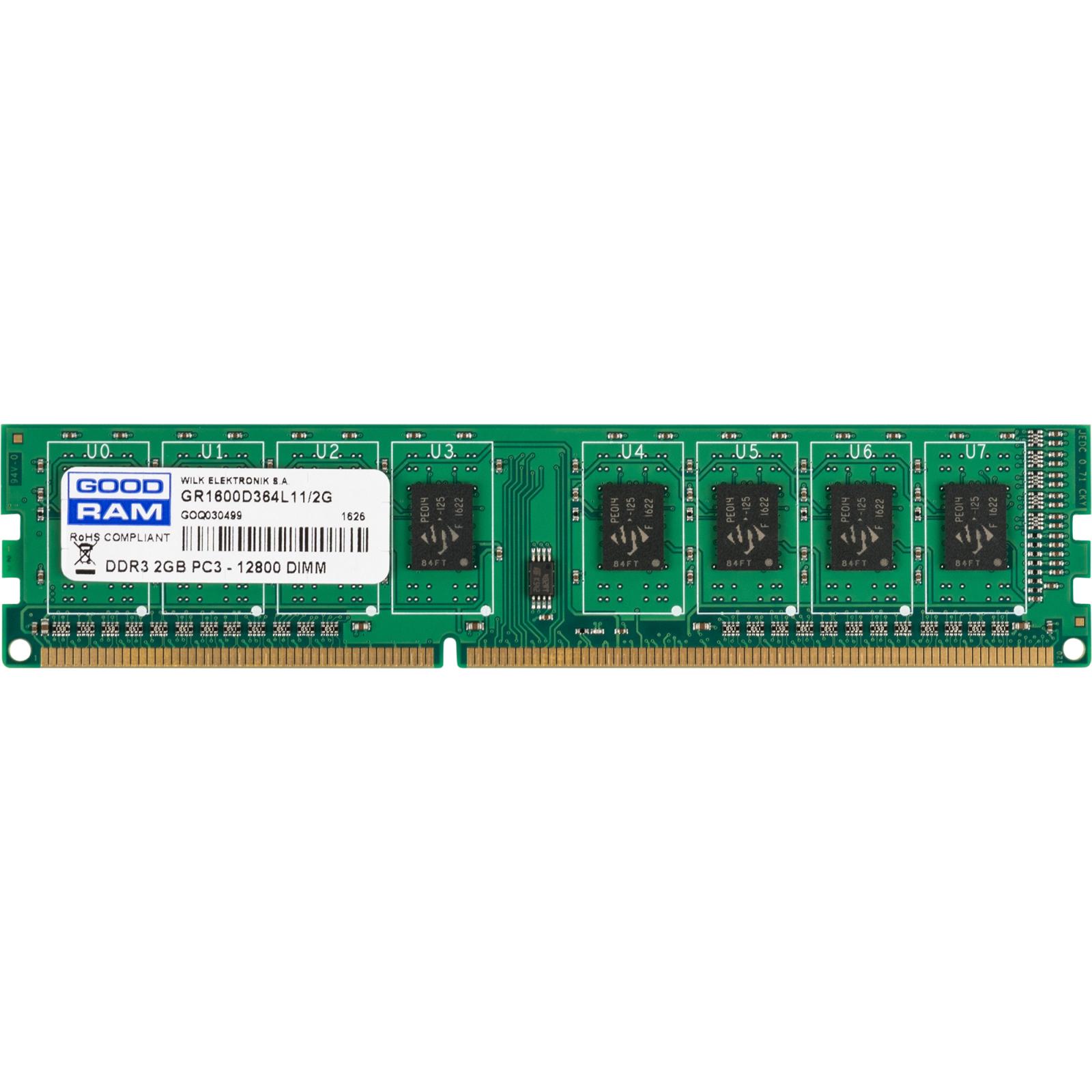 Модуль памяти для компьютера DDR3 2GB 1600 MHz GOODRAM (GR1600D364L11/2G)