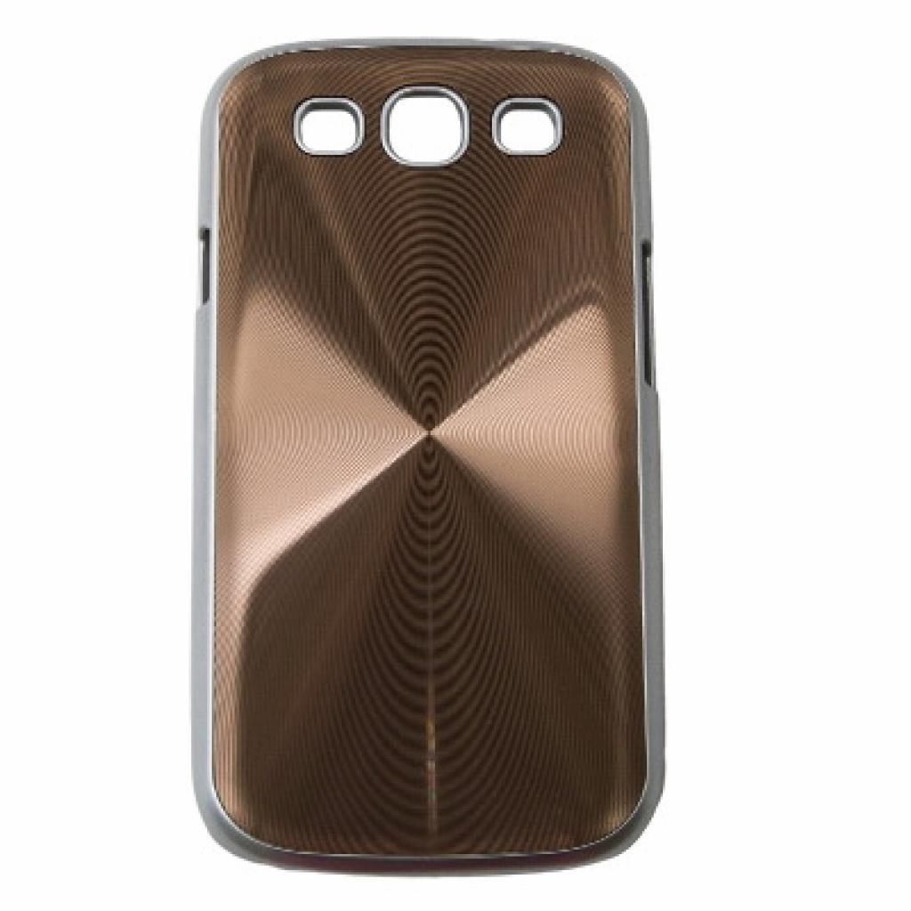 Чехол для моб. телефона Drobak для Samsung I9300 Galaxy S3 /Aluminium Panel/Brown (215219)