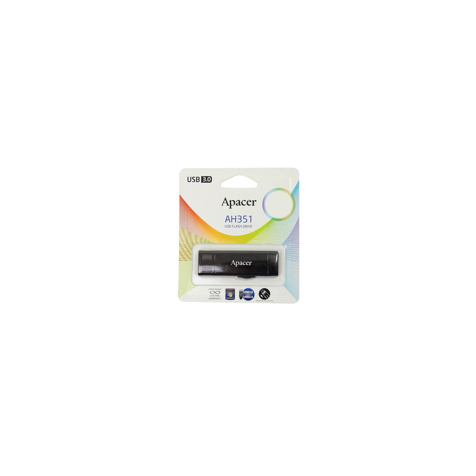 USB флеш накопитель 16GB AH351 Red RP USB3.0 Apacer (AP16GAH351R-1) изображение 9