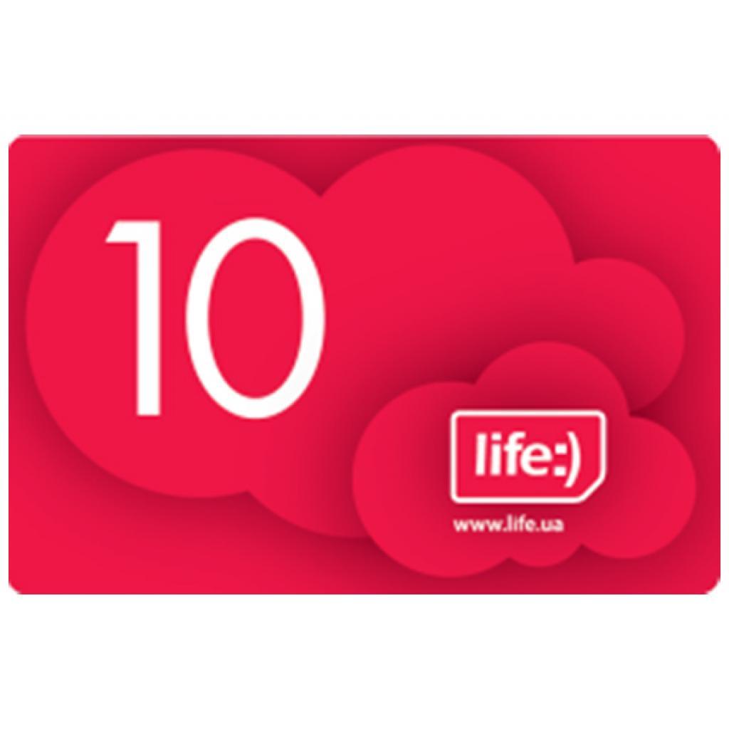 Карточка пополнения счета Life:) 10 (4820158950318/8697543410117)