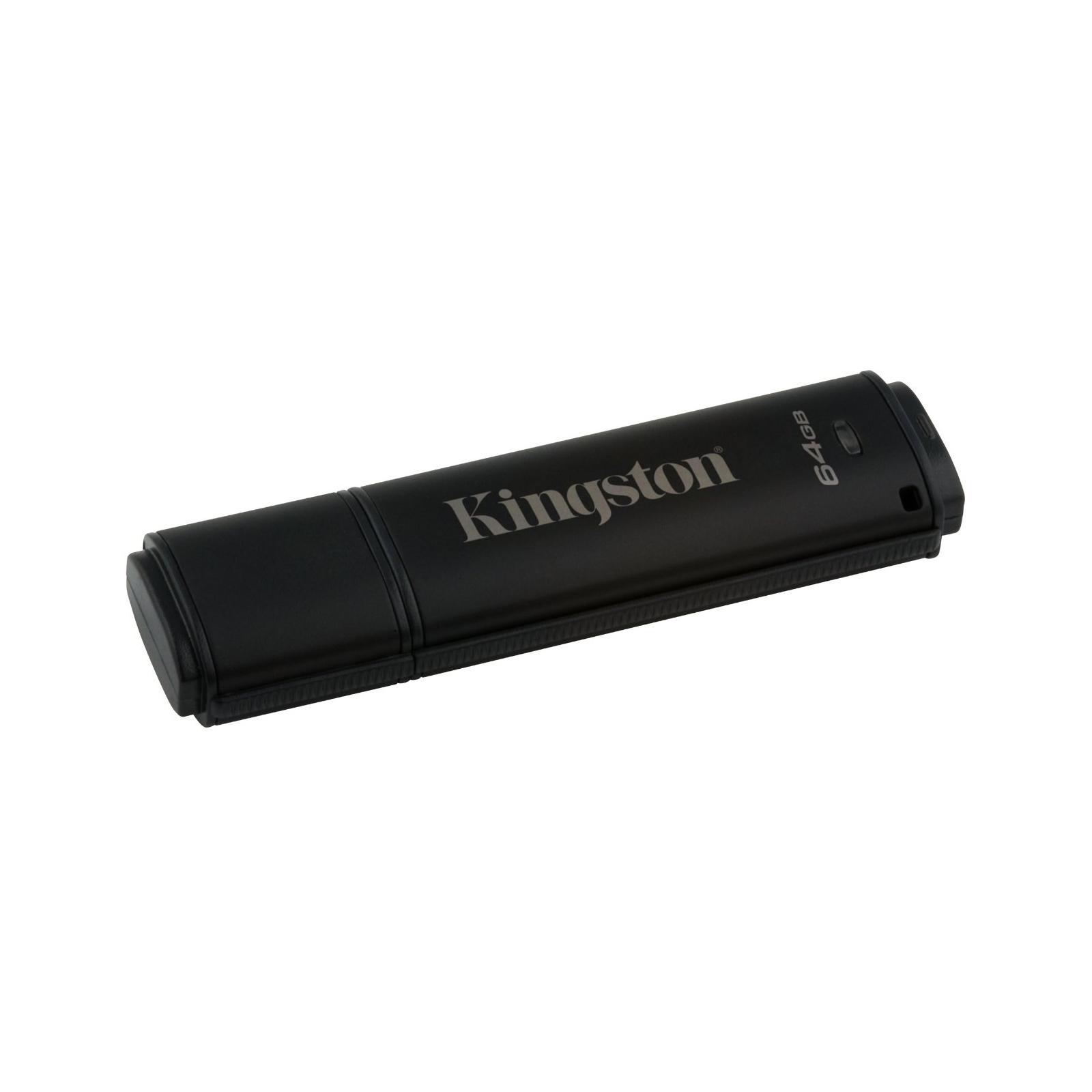 USB флеш накопитель Kingston 64GB DataTraveler 4000 G2 Metal Black USB 3.0 (DT4000G2/64GB) изображение 2