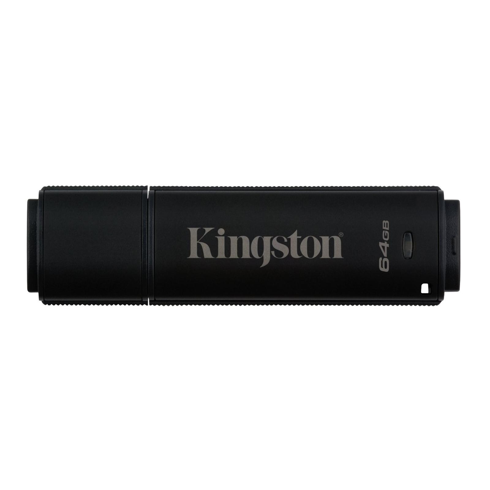 USB флеш накопитель Kingston 64GB DataTraveler 4000 G2 Metal Black USB 3.0 (DT4000G2/64GB)