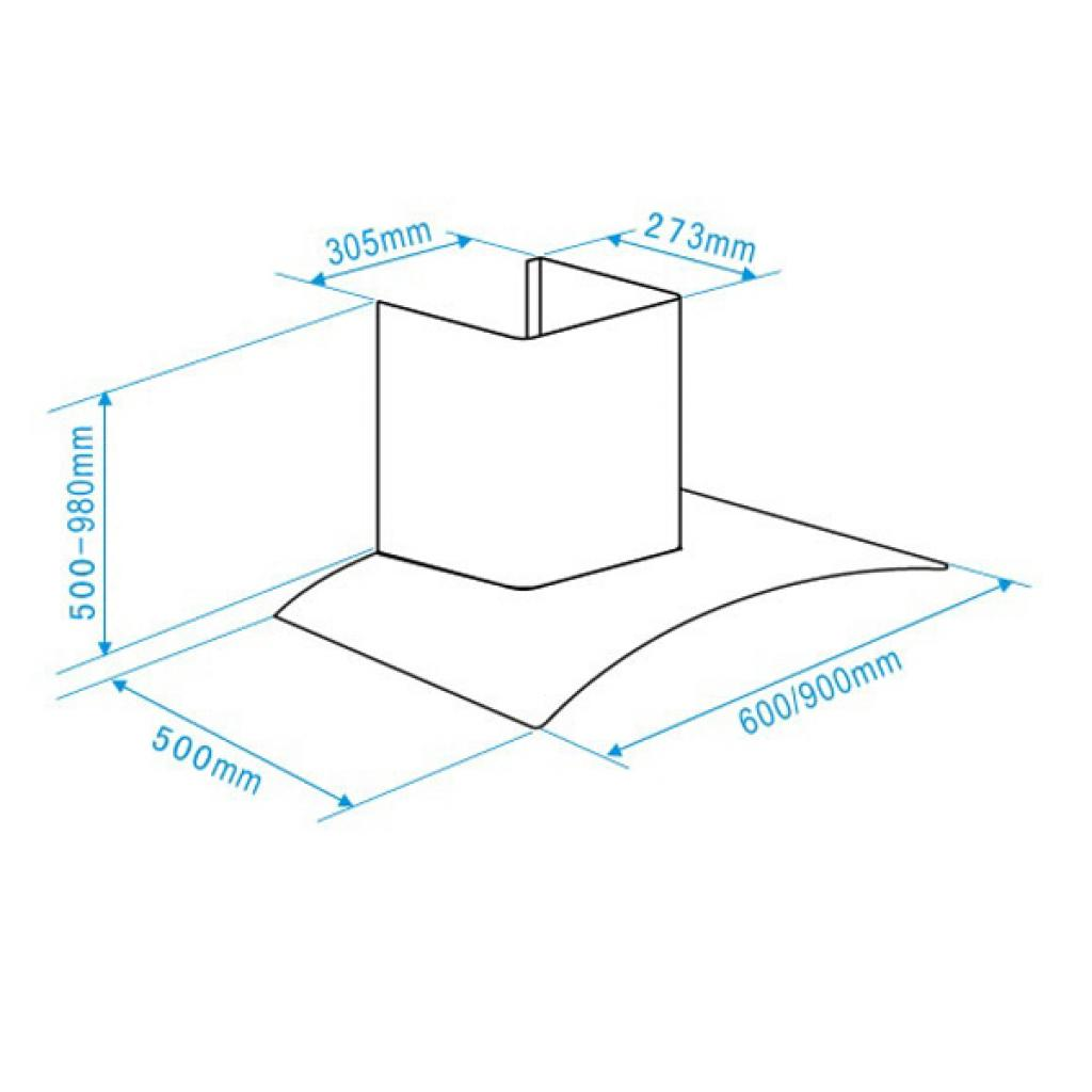 Вытяжка кухонная Interline EAGLE X/V A/60 EB изображение 8
